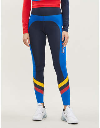 Tommy Hilfiger Contrast panel stretch-jersey leggings