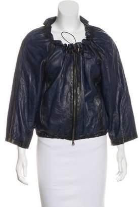 Theory Adelay Leather Jacket