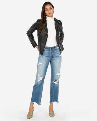 Express Minus The) Leather Clean Moto Jacket