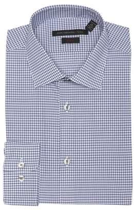 John Varvatos Dot Check Slim Fit Dress Shirt