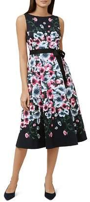 Hobbs London Sissinghurst Floral Print Midi Dress