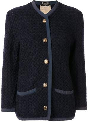 Chanel Pre-Owned waffle knit cardigan