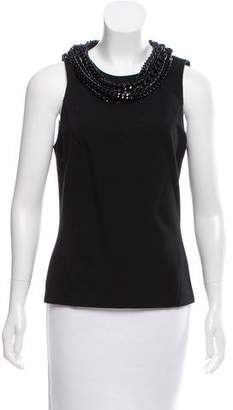 Barbara Bui Chain-Link-Accented Sleeveless Top