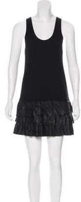 Theory Ruffled Mini Dress