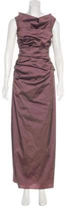 Talbot Runhof Ruched Evening Dress