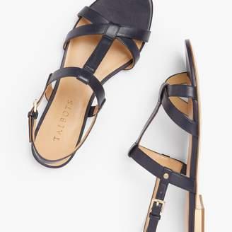 Talbots Keri T-Strap Sandals - Nappa Leather
