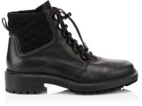 Aquatalia Linda Leather Combat Boots