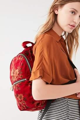 Beyond Retro Nikki Velvet Printed Mini Backpack