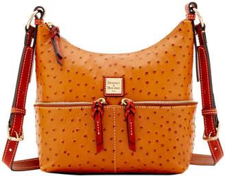 Dooney & Bourke Ostrich Small Pocket Zipper Crossbody