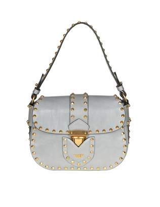 Moschino Shoulder Bag In Gray Leather