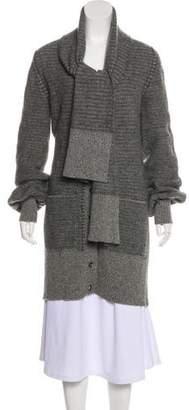 Chloé Elongated Wool-Blend Cardigan