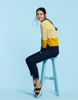 Joules Clothing Antique Gold Stripe Uma Milano Knit Jumper