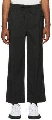 Y-3 Black Twill Slim Trousers