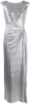 Lauren Ralph Lauren draped metallic sheen dress