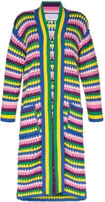 Mira Mikati stripe crochet cardigan