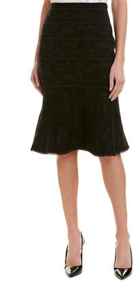 Carolina Herrera Wool-Blend Midi Skirt