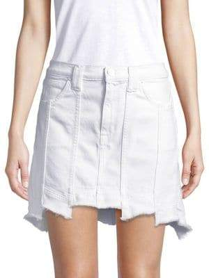 Hudson Weekender Step-Hem Denim Skirt