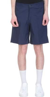 Pt01 Blue Cotton Bermuda Shorts