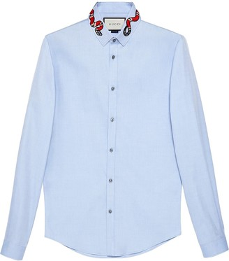 Gucci Oxford Duke shirt with snake