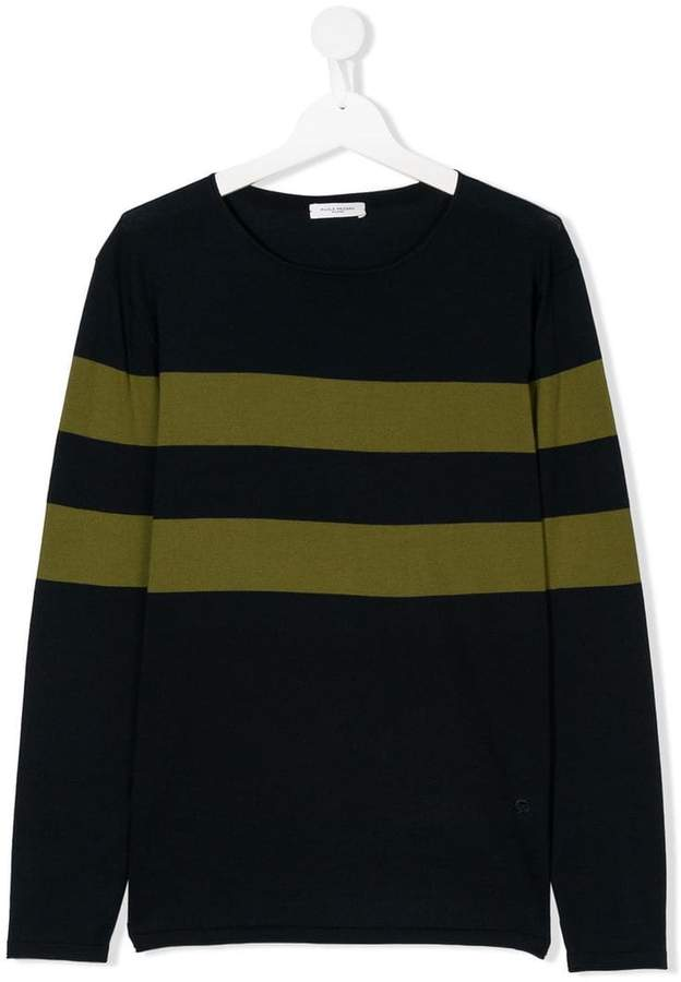 Paolo Pecora Kids striped fitted sweater