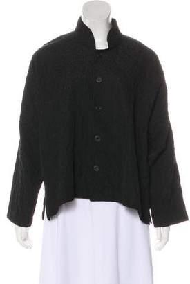 eskandar Patterned Button-Up Jacket