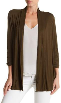 Bobeau Shawl Collar 3\u002F4 Length Sleeve Cardigan