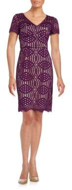 Nue By Shani Lace Sheath Dress $384 thestylecure.com