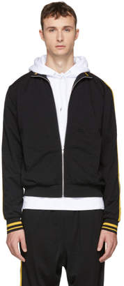 McQ Black and Yellow Athletic Zip Jacket