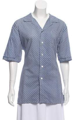 Hermes Printed Button-Up Top