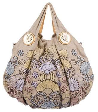 Gucci Floral Embroidered Hysteria Tote