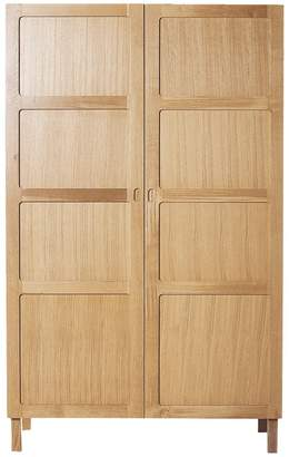 Radius 2 door wardrobe with hanging rail and 5 shelves