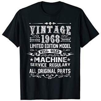 Vintage Made In 1968 50th Birthday 50 Years Old Tshirt