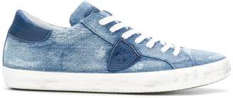 Philippe Model lace up denim sneakers