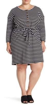Sanctuary Sullivan Henley Knit Dress (Plus Size)