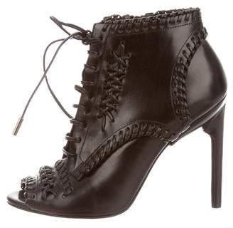 Jason Wu Peep-Toe Ankle Boots