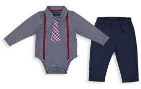 Andy & Evan Baby Boy's Two-Piece Polo Shirtzie Set