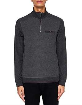 Ted Baker Hownd Funnel Kneck Zip Sweat