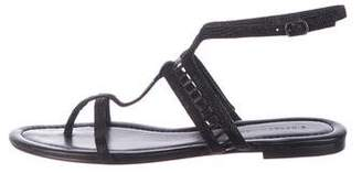 Sigerson Morrison Suede Ankle-Strap Sandals