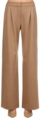 Max Mara Dondolo Wool Blend Jersey Wide Leg Pants