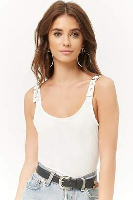 Forever 21 Ribbed Buckle-Strap Bodysuit