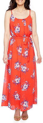 Robbie Bee Sleeveless Floral Maxi Dress-Petite