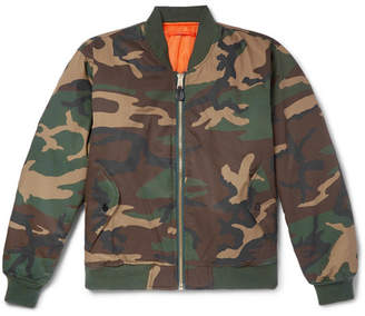 Alpha Industries ALYX + Embroidered Camouflage-Print Twill Bomber Jacket