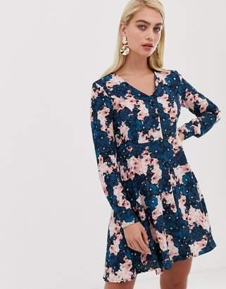 Vero Moda button front long sleeve shift dress
