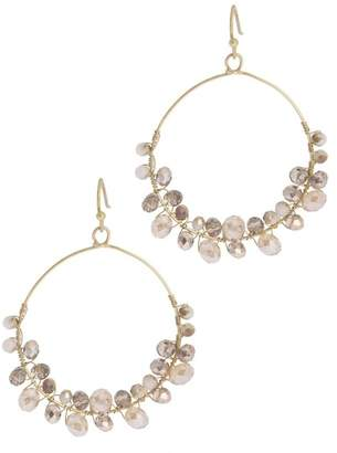 Saachi Refreshing Glass Bead Hoop Earring