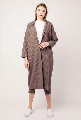 Azalea Stripe Long Jacket