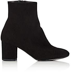 Barneys New York Women's Cap-Toe Suede Ankle Boots - Black