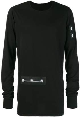 Rick Owens patch long-sleeve top