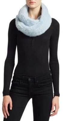 The Fur Salon Knit Mink Infinity Scarf