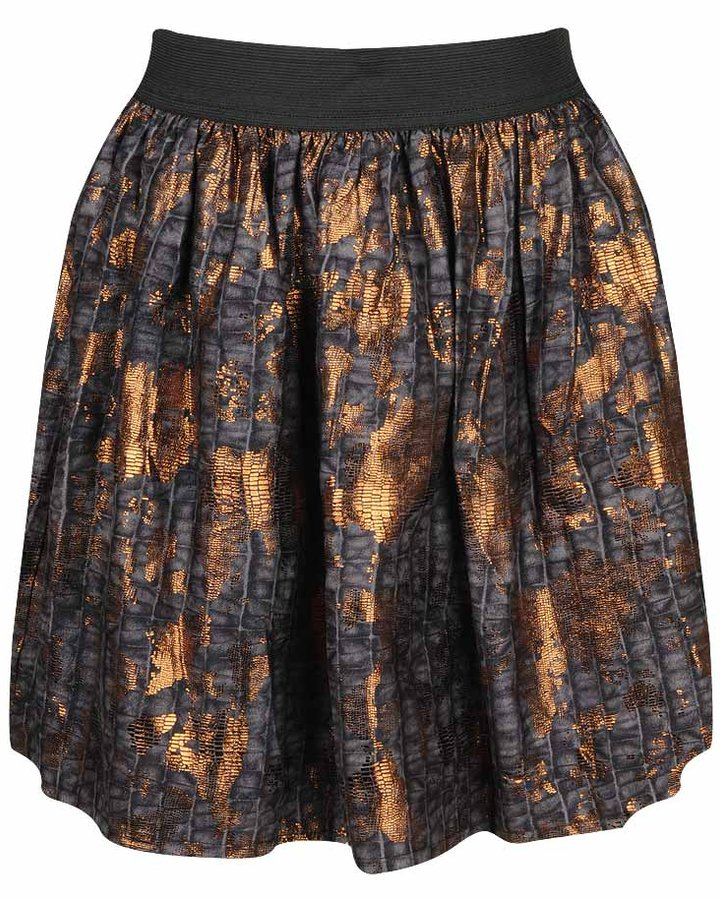 Crocs Foil Print Croc Pattern Skirt