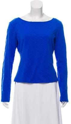 Versace Long Sleeve Patterned Top Long Sleeve Patterned Top